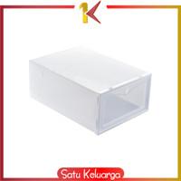 SK-C158 Kotak Sepatu Lipat Transparan Tebal Shoes Storage Box Organize