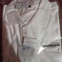 tshirt Baju Kaos kerah Balenciaga Bordir Big size 3XL & 4XL