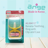 Ange Monkey Banana Teether With Case & Clip