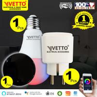 VETTO Paket Siap Pakai - Bulb 9W (1) + Plug (1) + IR Remote (1)