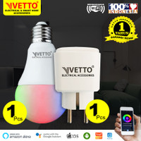 VETTO Paket Smart - Bulb 9W (1) + Plug (1)