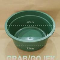 Baskom Plastik Besar Diameter 42cm   BAK 20 Hijau