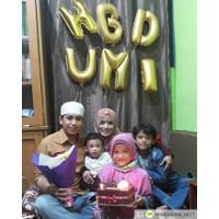 Balon Foil Huruf warna Gold size 40 cm atau Dekorasi Pesta Balon Nama