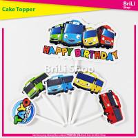 Cake Topper HAPPY BIRTHDAY Tayo Hiasan Kue Ultah Ulang Tahun