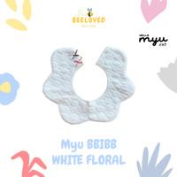 Myu BBIBB - WHITE FLORAL - BIB / SLABER / BIBS / CELEMEK BAYI LUCU
