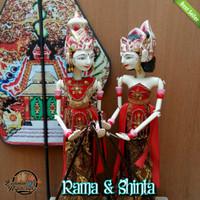 Wayang Golek Couple Rama & Shinta Medium Quality uk 50cm 1set=2pcs
