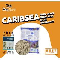 CaribSea Arag-Alive Bimini Pink 20 lbs / pasir laut