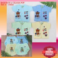 Baju Bayi Newborn dan Celana Pop Bayi Murah 0-3 Bulan Hello Baby Bear