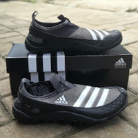 Sepatu Adidas Clima Cool Jawpaw 2 Slip On Black Grey White