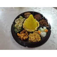 Paket Komplit Tumpeng Mini Vegetarian / Nasi Kuning Tumpeng Mini Vege