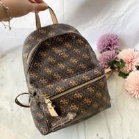 Tas Guess Backpack Leeza Printed Bag Original