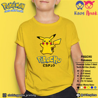 Kaos Baju Anak Cowok Cewek Pikachu Pokemon Go Lucu Kid T-Shirt
