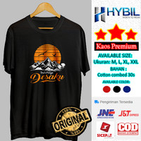 Kaos Distro Outdoor Indahnya Desaku Baju Cowok Gunung Bahan Premium - Putih, M