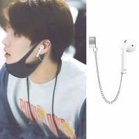 EE0536 - Anting JEPIT Airpods Anti Lost Tanpa Tindik Kpop Korea BTS - Hitam