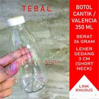 Botol Cantik 350 ml Tebal / Botol Plastik 350 ml /Valencia Tebal(26gr)