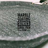Wajan BBQ Grill Pan Marble Aluminium Anti Lengket AKEBONNO 20CM