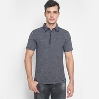 Slim Fit - Polo Shirt - Corak - Hitam - Abu - JTS.320.M2639F.01.C