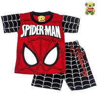 Baju SPIDERMAN Setelan Pakaian Anak Karakter Kostum Super Hero MARUNO