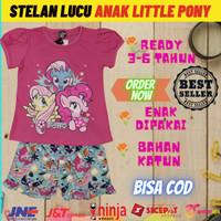 Stelan anak karakter perempuan little pony l baju anak cewe kuda poni