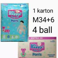 baby happy pants m,l,xl,xxl ( 1 karton isi 4 ball )