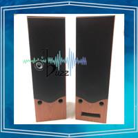 Box Speaker Active 6 Inch Double Speaker - Black / Brown