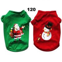 Baju costume natal christmas anjing kucing cat dog pet XS S M L XL - Merah, M