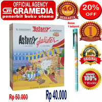 komik asterix - asterix dan gladiator - edisi klasik - original &segel
