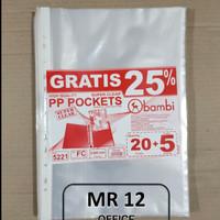 Sheet Protector PP Pockets Bambi Folio Type 5221 (Isi 20+5 Sheet)