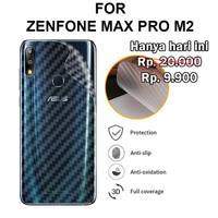 Asus Zenfone Max Pro M2 ZB631KL - Antigores Belakang Carbon Back Skin