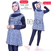 baju renang jumbo-baju renang muslim big size-baju renang wanita jumbo - jb22, 7L