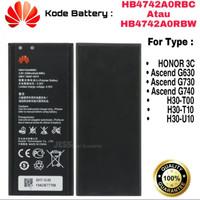 Baterai Battery Honor 3C H30-T00 / H30-T10 / HB4742A0RBC / HB4742A0RBW