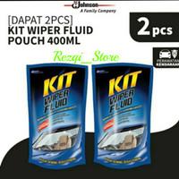 Twin Pack Kit Wiper Fluid Bersih Bening Bebas Pandang Refill 400 Ml