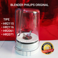 Gelas Bumbu 1Set Blender Philips Original, HR 2115 2116 2061 2071 - gelas grade