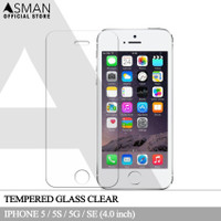 Asman Premium Tempered Glass Anti Gores for Apple iPhone 5/5s - Clear