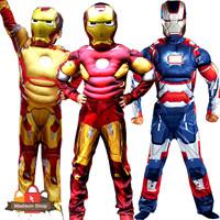 Kostum Iron Man Mussle Murah Baju Robot Cosplay Murah Topeng Ironman