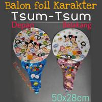 Balon foil karakter TSUM TSUM 2 sisi balon foil tenis SOUVENIR ULTAH