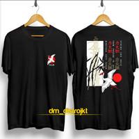 Tshirt Lukisan Kanji Bangau / Baju Kaos Distro Pria Wanita Keren Murah