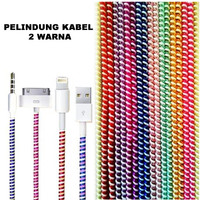 Pelindung Kabel Charger / Headset 2 Warna Spiral Protector Cable Data