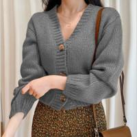 pakaian cantik baju blouse blus Cardi cardigan cewek wanita rajut zoey
