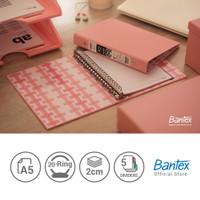 Bantex A5 Multiring Binder - Musky Pink- Batik Series (1 Pcs) #1334 74