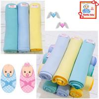 3Pcs Bedong Bayi Polos Bahan Adem/Selimut Bedong Bayi/Parnel Bayi