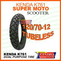 KENDA K761 120/70-12 TUBELESS,BAN SCOOTER POWER DUAL PURPOSE RING 12