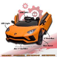 Mainan anak Mobil aki Aventador MOB 1015 Ban Karet