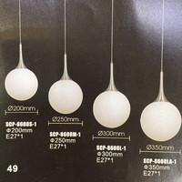 Lampu gantung bulat lampu bola 20-25-30-35cm LJG8608SML-1