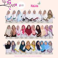 Azkia Hijab Kalisa Khimar Kerudung Syari Anak Remaja Bahan Kaos - warna di chat, S