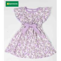 BANANA Dress Baju Bayi Perempuan Bunga Chrysant Rumbai Pita