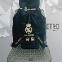 Bantal mobil 5 in 1 Real Madrid / aksesoris interior cover tissu mobil