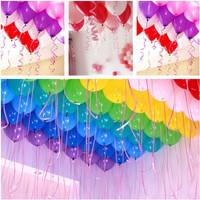tali balon ribbon helium serut dekorasi pesta gold putih hitam