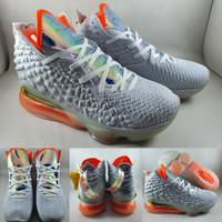 Sepatu Basket Nike Lebron 17 XVII LMTD Future Air White Orange