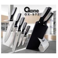 Oxone OX972 Pisau Dapur Knife Block Set - Hitam ( Pisau Set )
